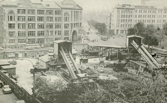 Строительство станции метро «