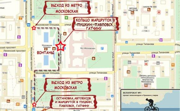 Остановка на Московской Карта