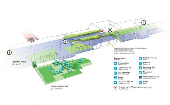 Схема Павелецкого вокзала (164