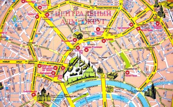 площадь на карте Москвы