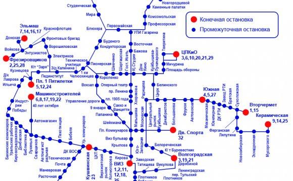 Расписание и маршруты трамваев