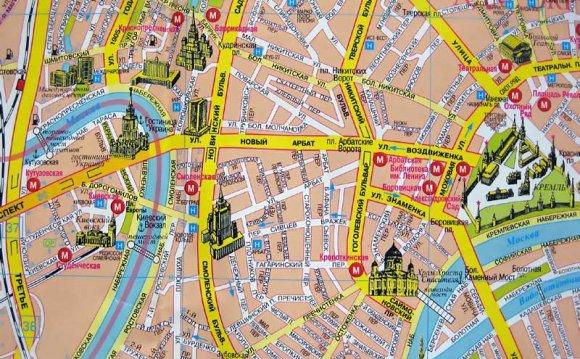 Арбат на карте Москвы